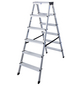 KRAUSE Stufen-Doppelleiter »MONTO Dopplo«, 12 Sprossen, Aluminium-Thumbnail