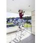 KRAUSE Stufen-Doppelleiter »MONTO Dopplo«, 14 Sprossen, Aluminium-Thumbnail