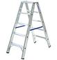 KRAUSE Stufen-Doppelleiter »STABILO«, 10 Sprossen, Aluminium-Thumbnail