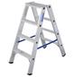 KRAUSE Stufen-Doppelleiter »STABILO«, 8 Sprossen, Aluminium-Thumbnail