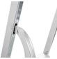 KRAUSE Stufen-Stehleiter »CORDA«, 3 Sprossen, Aluminium-Thumbnail