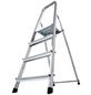 KRAUSE Stufen-Stehleiter »CORDA«, 4 Sprossen, Aluminium-Thumbnail