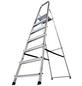 KRAUSE Stufen-Stehleiter »CORDA«, 7 Sprossen, Aluminium-Thumbnail