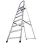 KRAUSE Stufen-Stehleiter »CORDA«, 8 Sprossen, Aluminium-Thumbnail