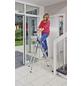KRAUSE Stufen-Stehleiter »MONTO Safety«, 4 Sprossen, Aluminium-Thumbnail