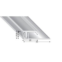 KÜGELE PROFILE Abschlussprofil Set »T-FLEX«, BxL: 20 x 2700 mm, Höhe: 7-13 mm, silberfarben