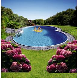 SUMMER FUN Achtformbecken-Set Achtformbeckenset , achtform, BxLxH: 500 x 855 x 120 cm