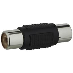 SCHWAIGER Audio-Verbinder, Schwarz, Kunststoff, Audiokabel mit Cinch-Stecker