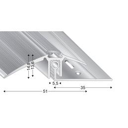 KÜGELE PROFILE Ausgleichsprofil-Set »TRIO GRIP® x«, sandfarben, BxLxH: 51 x 2700 x verstellbar 7,5-16,5 mm