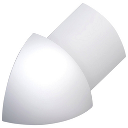 alfer® aluminium Außenecke, Viertelkreis, Eloxiert, Silber, Fliesenmaß 10 mm