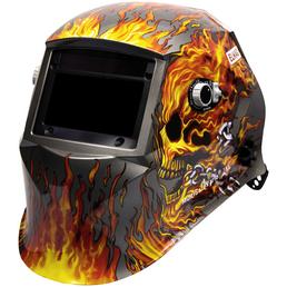 ELMAG Automatischer Kopfschweißschirm, Design FLAME, Kunststoff
