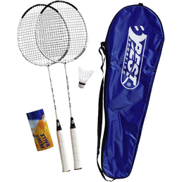 BEST SPORTING Badminton-Set 200 XT, 2 Schläger 3 Federbälle Inkl.Tragetasche
