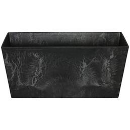 ARTSTONE Balkonkasten »Ella«, Kunststoff, schwarz, rechteckig
