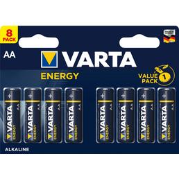 VARTA Batterie, Energy, AA, 1,5 V, 8 Stk.