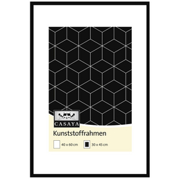 CASAYA Bilderrahmen, CASAYA Kunststoffrahmen, Schwarz, 40x60 cm