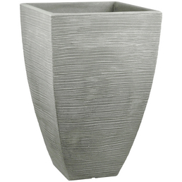 Blumentopf »Rillen«, BxHxT: 40 x 60 x 4 cm, steingrau