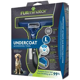 FURMINATOR Bürste »deShedding TOOL«, L Langhaar, für große Hunde von 23 bis 41 kg, blau