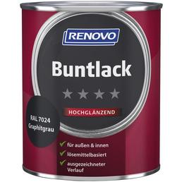 RENOVO Buntlack, graphitgrau, hochglänzend, 0,75 l