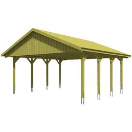 SKANHOLZ Carport, B x T x H: 620 x 600 x 354 cm, grün