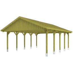 SKANHOLZ Carport, B x T x H: 620 x 750 x 354 cm, grün