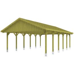 SKANHOLZ Carport, B x T x H: 620 x 900 x 354 cm, grün