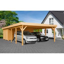 MR. GARDENER Carport »Heidelberg XL«, Außenmaß BxT: 555 x 872 cm, braun