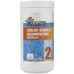 MR. GARDENER Chlor-Schnelldesinfektion, 1,2 kg Chlor - Schnelldesinfektion, für Pools