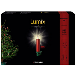 Krinner Christbaumkerzen Lumix Superlight mini, Rot | Grün, 6er