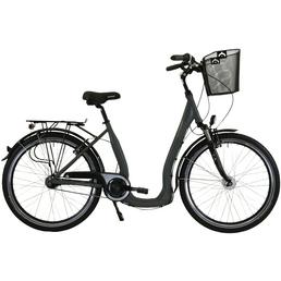 HAWK Citybike Tiefeinsteiger »Comfort Deluxe«, 28 Zoll, 7-Gang, Unisex
