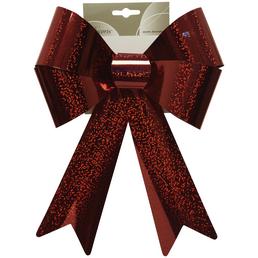 DECORIS Dekoration Outdoorschleife Kunststoff, 22x32 cm, rot