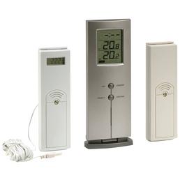 SUMMER FUN Digital-Funkthermometer, Kunststoff, weiß/grau