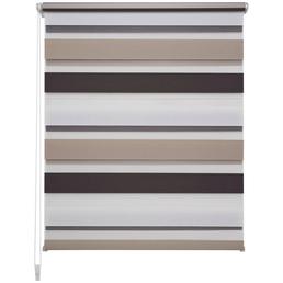 LIEDECO Doppelrollo, weiß/braun/beige, Polyester