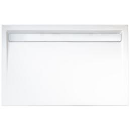 WELLWATER Duschwanne, BxT: 120 x 90 cm, weiß/chromfarben