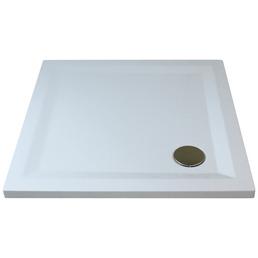 BREUER Duschwanne »Flat Line Design«, BxT: 90 x 90 cm, weiß