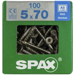 SPAX Edelstahlschraube, T-STAR plus, 100 Stk., 5 x 70 mm