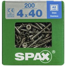 SPAX Edelstahlschraube, T-STAR plus, 200 Stk., 4 x 40 mm