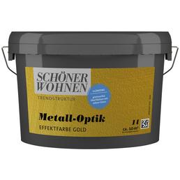 SCHÖNER WOHNEN FARBE Effektfarbe »Trendstruktur« in Metall-Optik, goldfarben, 1 l