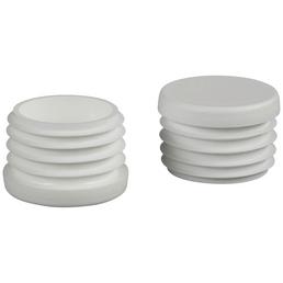 HETTICH Einsteckgleiter für Rundrohre, Kunststoff, weiß, Ø 30 x 21 mm, 4 St.