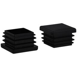 HETTICH Einsteckgleiter für Vierkantrohre, Kunststoff, schwarz, 30 x 30 x 20 mm, 4 St.