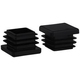 HETTICH Einsteckgleiter, quadratisch, schwarz, 25 x 20 x 25 mm
