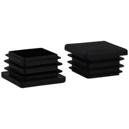 HETTICH Einsteckgleiter, quadratisch, schwarz, 40 x 25 x 40 mm