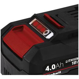 EINHELL Ersatzakku, PXC-Twinpack, 4 Ah, 18 V, Lithium-Ionen, Rot | Schwarz