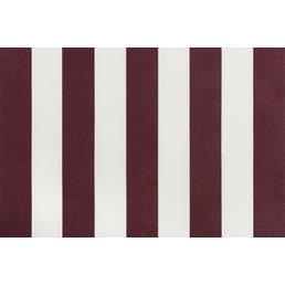 Fallarmmarkise, BxT: 236 x 160 cm, bordeauxrot/weiss gestreift