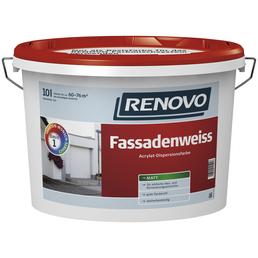 RENOVO Fassadenfarben, ca. 6 - 7,6 m²/l, weiß, matt, 5 l