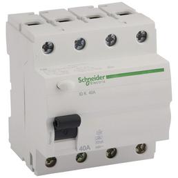 Schneider Electric Fehlerstromschutzschalter, 4-polig, Weiß, 40 A