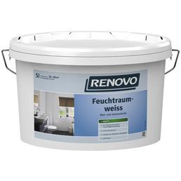 RENOVO Feuchtraumfarbe, weiß, 5 l, ca. 6 - 7,6 m²