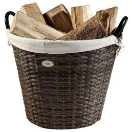 HABAU Feuerholzkorb, Braun   Beige, Rund, Durchmesser: 48 cm