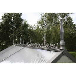 KGT Firstverzierung für Gewächshäuser, BxLxH: 10 x 300 x 30 cm, Aluminium