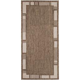 ANDIAMO Flachgewebe-Teppich »Louisiana«, BxL: 67 x 140 cm, braunbeige