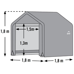 SHELTERLOGIC Folien-Gerätehaus, H (max) x B x T: 180  x 180 x 180 cm